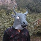 Creepy Bull Ox Cow Head Face Animal Costume Halloween Party Prop Carnival Mask