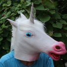 Creepy Unicorn Horse Head Face Animal Costume Halloween Party Prop Carnival Mask