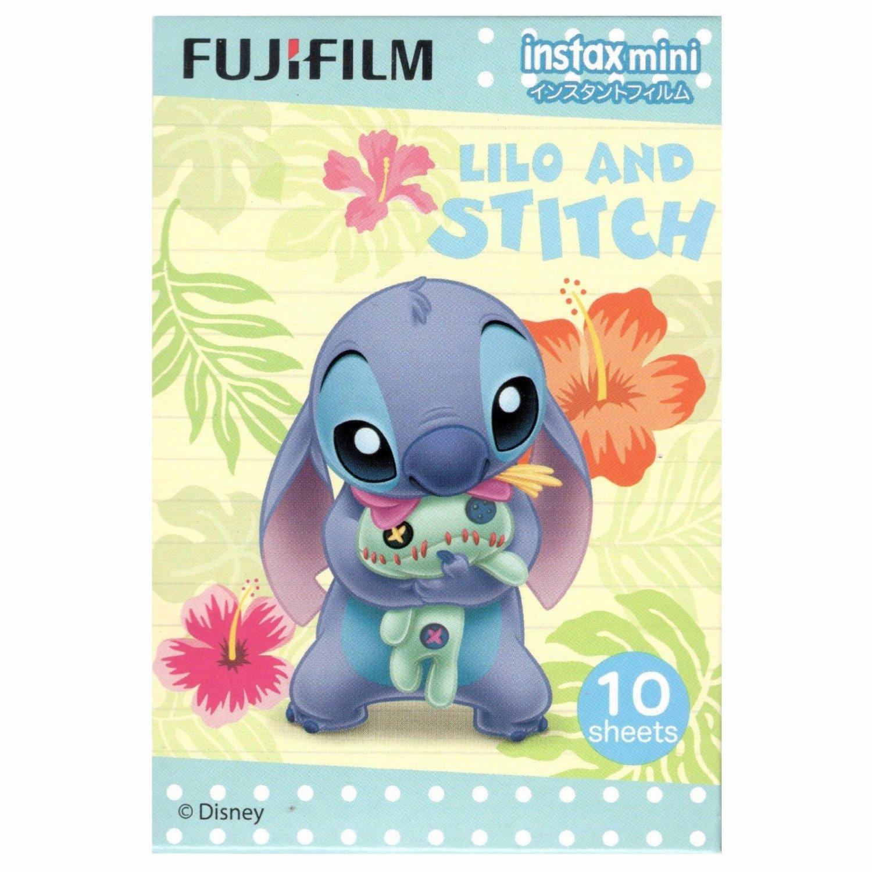 1 Pack 10 Photos Disney Lilo and Stitch FujiFilm Instax Mini Film Polaroid X380