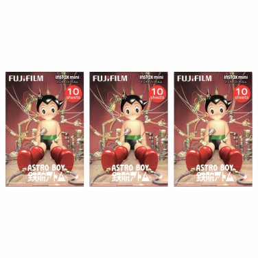 3 Packs 30 Photos Astro Boy FujiFilm Instax Mini Film Polaroid X382