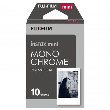 1 Pack 10 Photos Monochrome FujiFilm Fuji Instax Mini Film Polaroid 7S 8 SP-1 X390
