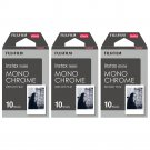 3 Packs 30 Photos Monochrome FujiFilm Fuji Instax Mini Film Polaroid 7S 8 SP-1 X390