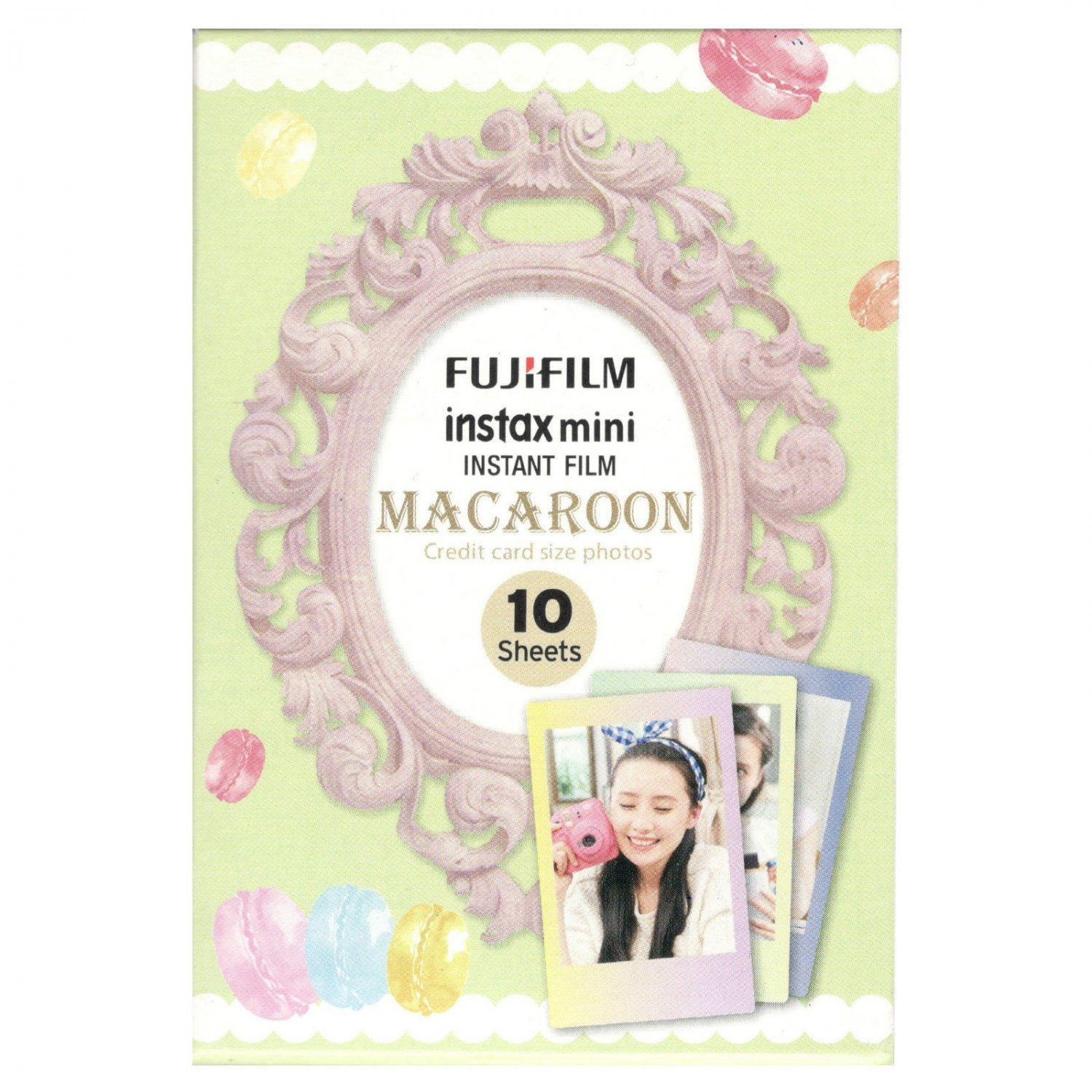 1 Pack 10 Photos Macaroon FujiFilm Fuji Instax Mini Film Polaroid 7S 8 50S SP-2 X391