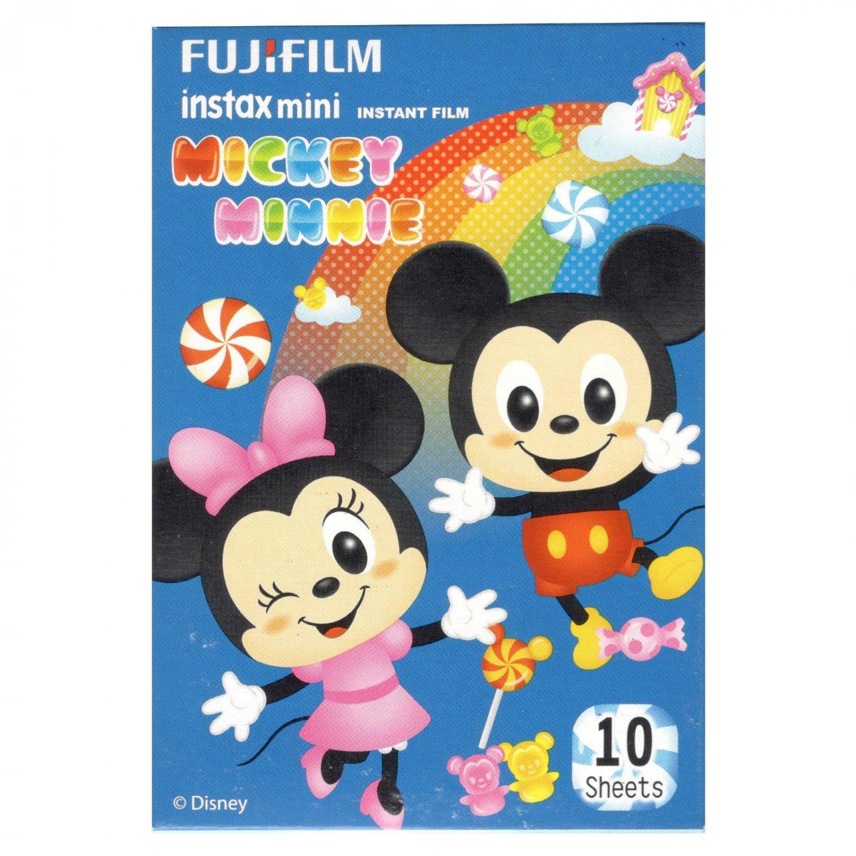 1 Pack 10 Photos Disney Mickey Minnie FujiFilm Fuji Instax Mini Film Polaroid X392