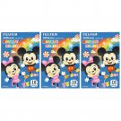 3 Packs 30 Photos Disney Mickey Minnie FujiFilm Fuji Instax Mini Film Polaroid X392
