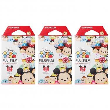 3 Packs 30 Photos Disney Tsum Tsum FujiFilm Fuji Instax Mini Film Polaroid 7S 8 X394