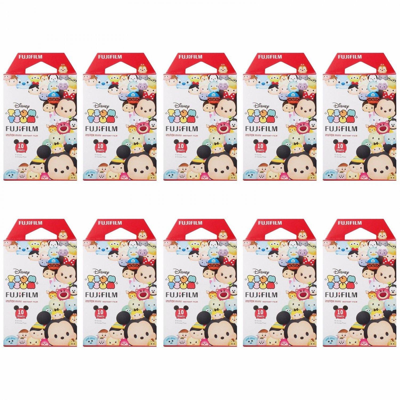 10 Packs 100 Photos Disney Tsum Tsum FujiFilm Fuji Instax Mini Film Polaroid 7S 8 X394