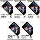 5 Packs 50 Photos Black Frame FujiFilm Fuji Instax Mini Film Polaroid 7S SP-1 X395