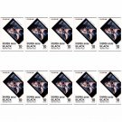 10 Packs 100 Photos Black Frame FujiFilm Fuji Instax Mini Film Polaroid 7S SP-1 X395
