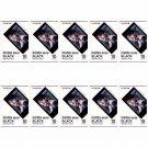 10 Packs 100 Photos Black Frame FujiFilm Fuji Instax Mini Film Polaroid 7S SP-1 X395