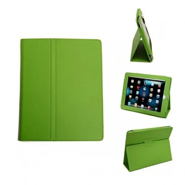 Green Colour Synthetic Leather Skin Case Cover Pouch Protector Kickstand For Apple iPad 1 1st