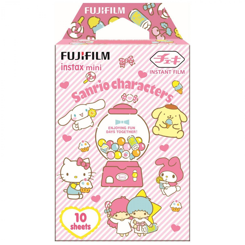 1 Pack Sanrio Characters FujiFilm Fuji Instax Mini Film, 10 Instant Photos Polaroid 7S 50S SP-2 X520