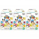 3 Packs Disney Tsum Tsum FujiFilm Fuji Instax Mini Film, 30 Instant Photos Polaroid 7S 50S SP-2 X521