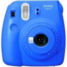 Cobalt Blue Colour FujiFilm Fuji Instax Mini 9 Instant Photos Films Polaroid Camera