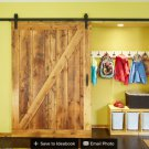 8ft sliding barn wood door interior wooden door sliding track kit