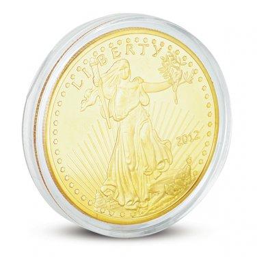 24K Yellow Gold Plated Collectible USA Money Liberty Coin &Case (LIBERTYCOIN)
