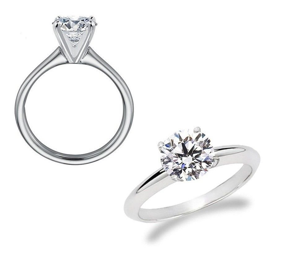 0.35 ct Round Diamond Solitaire 14k White Gold Engagement Ring + EXTRAS (TSR035W)
