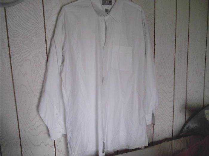 Mens Stafford White Dress SHIRT size 18/35
