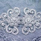 Large Vintage Crystal Rhinestone Wedding Belt Buckle Matching Clasp Closure