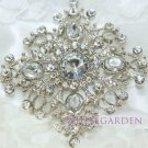 New Crystal Rhinestone Bridal Bride Wedding Dress Sash Cake Rhombus Brooch Pin