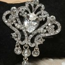 Rhinestone Crystal Wedding Dress Cake Decoration Pendant Dangle Brooch Pin