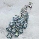 Rhinestone Crystal Bridal Wedding Dress Peacock Wedding Hair Brooch Pin