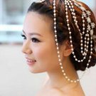 Crystal Chain Rhinestone Wedding Faux Pearl Shoulder/choker Necklace Hair Chain