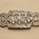 Vintage Style Glass Crystal Rhinestone Wedding Bridal Bride Sash Brooch Pin