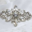 Vintage Style Glass Crystal Rhinestone Wedding Bridal Bride Gift Brooch Pin