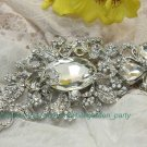 Swarovski Crystal Rhinestone Bridal Flower Wedding Hair Dress Silver Brooch Pin