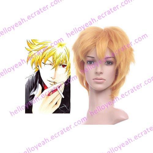 Gintama Kitar� Golden 35cm Anime Nylon Cosplay Wig