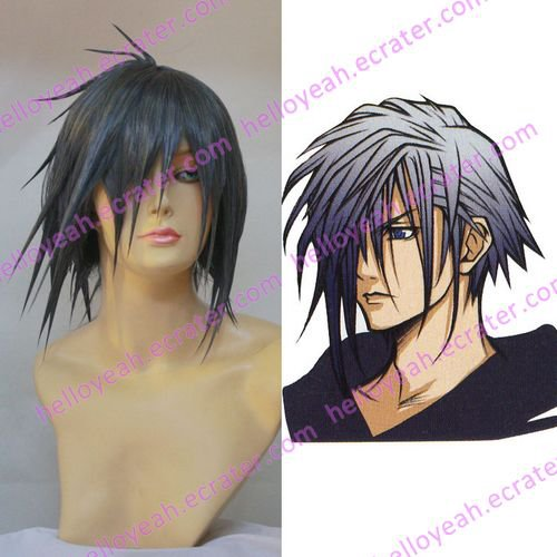 Cosplay Wig -  Zexion wigs from Kingdom Hearts