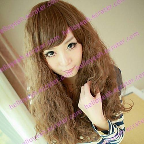Brown Gal Gradient Color 70cm Punk Lolita Wave Wig