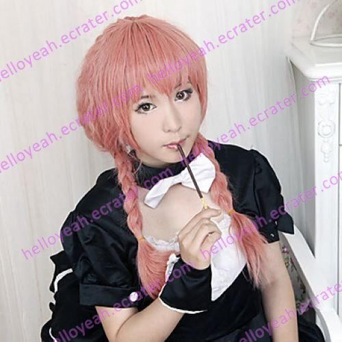 Cosplay Wig Inspired by Inu x Boku Secret Service Roromiya Karuta Pink and Orange
