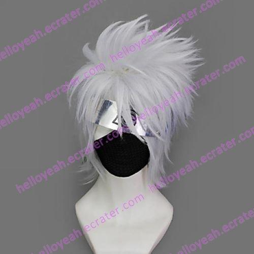 Cosplay Wig Inspired by Naruto Hatake Kakashi