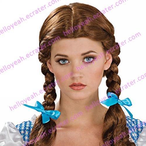 Halloween Wig Inspired by Dark Brown Wizard Braided Pigtail