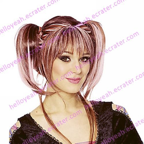 Halloween Wig Inspired by Punky Mixed Color Pigtails