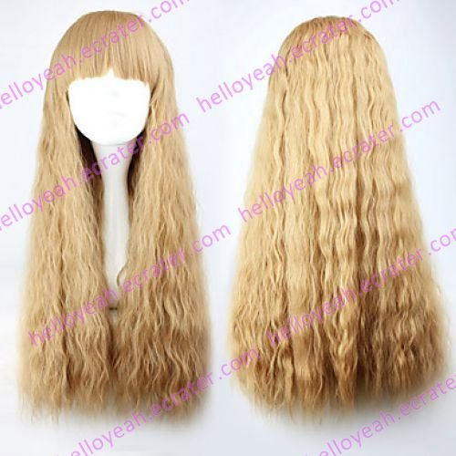 Lolita Curly Wig Inspired by Light Brown Blunt-cut 70cm Princess