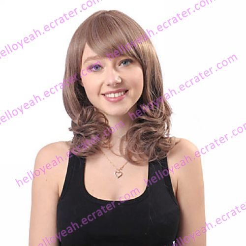 Lolita Curly Wig Inspired by Zipper Gradient Brown 52cm Sweet