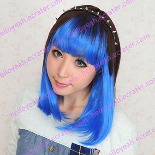 Lolita Wig Inspired by Brown and Blue 40cm Maid Style Cosplay