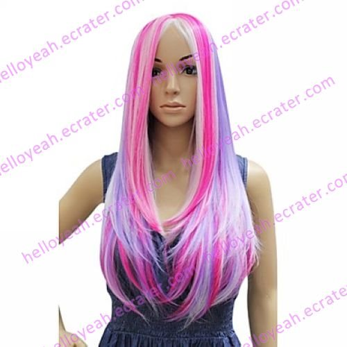 Lolita Wig Inspired by Harajuku Mixed Color 60cm Punk