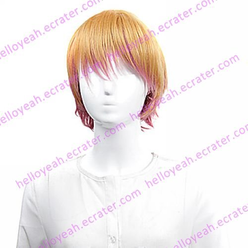 Lolita Wig Inspired by Yellow and Pink Mixed Color 25cm Sweet