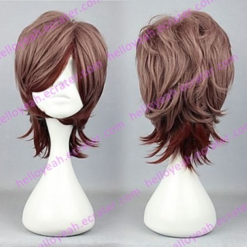 Lolita Wig Inspired by Zipper Brown and Chocolate Mixed Color 30cm Oji