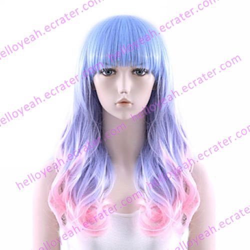 Lolita Wig Inspired by Zipper Purpke and Pink Mixed Color 60cm Sweet