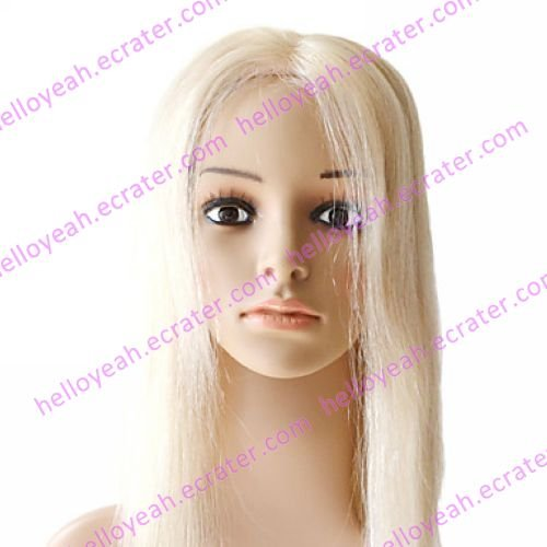 Mono Top 100% Indian Remy Hair Blonde Silky Straight Wig