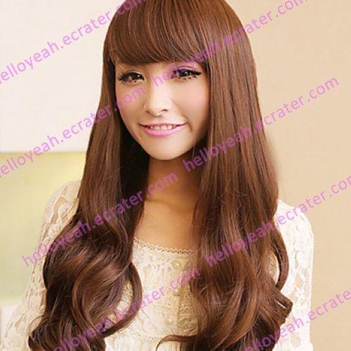 Zipper Brown 80cm Princess Lolita Wave Wig