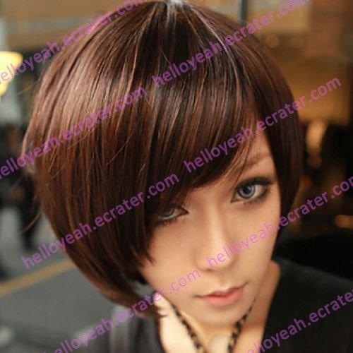 Zipper Brown Gal Gradient Color 40cm Oji Lolita Wig