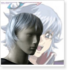 Gundam Seed Destiny Auel Nader Cosplay Wig