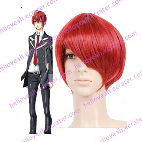 Red 30cm Starry�Sky Tomoe Yoh Nylon Cosplay Wig