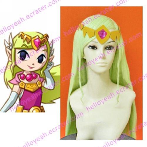 The Legent of Zelda Cosplay Wind Walker Zelda Wig